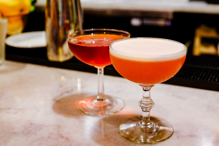 The bar program is quintessential NYC with craft cocktails like the Boulevardier ($11) made with Bulleit Bourbon, Campari and sweet vermouth; and the Clover Club ($13), a Brooklyn Gin drink made with house-made yuzu grenadine and finished with frothy egg whites.