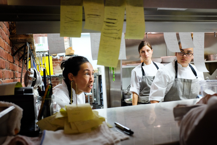 Chef-owner Robynne Maii at the pass.