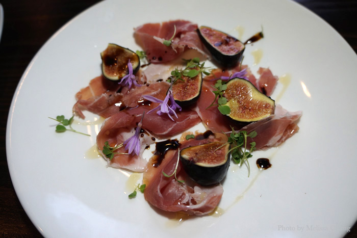 Fig and prosciutto salad special of the evening.