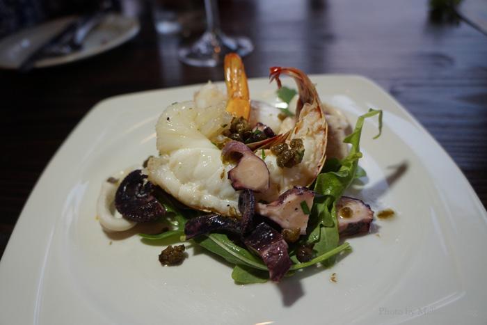 Seafood salad, $16.