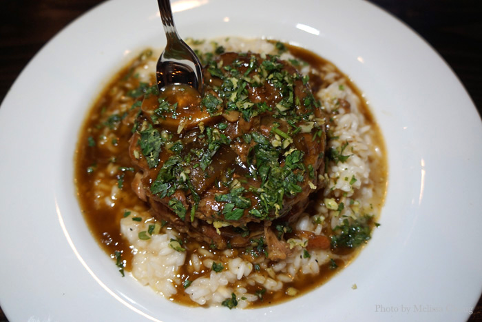 Veal osso buco, $37.