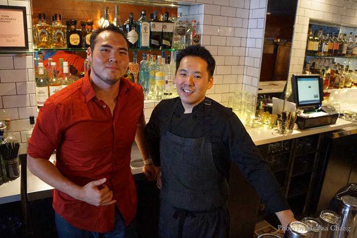 Left, Bar Manager Joseph Arakawa and Chef Robert Paik.