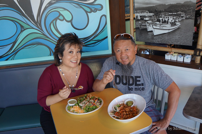 With Wing Lam, the founder of Wahoo's Fish Tacos.
