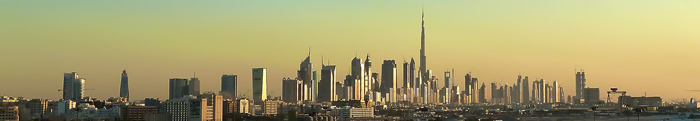 Dubai skyline at dawn by Jan Michael Pfeiffer