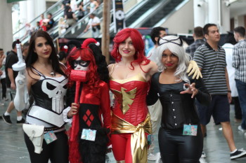 A few femme fatales from the comic books.