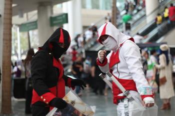 For masters of the hidden art, ninja really stick out at Kawaii Kon.
