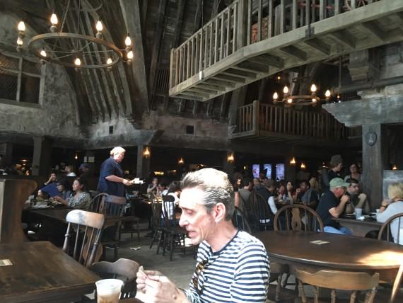 Inside the Three Broomsticks restaurant