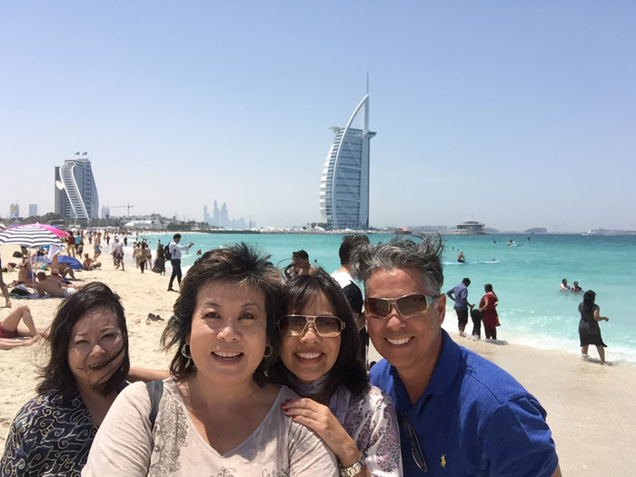 Wish we were there: With Nadine Kam, Avis Thomas and JR Buenconsejo.