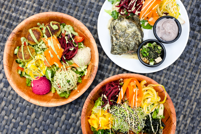 Beautiful bowls bursting with vibrant veggies, wholesome grains and delicious sauces.