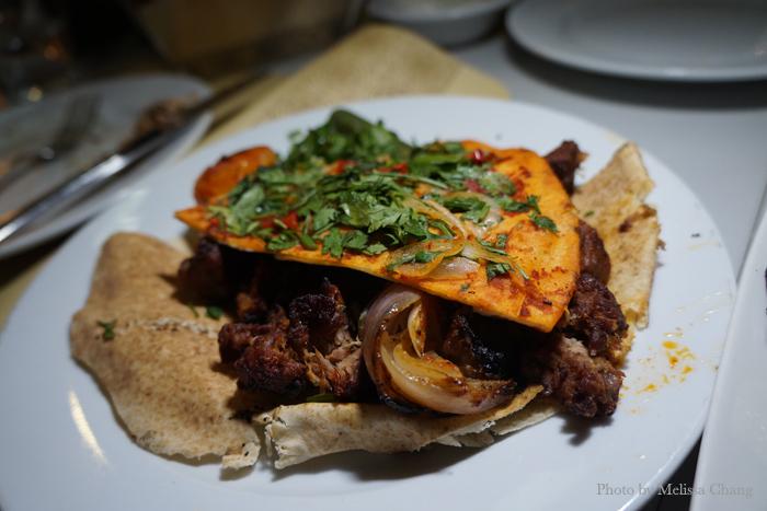 Spicy lamb, 60 AED.