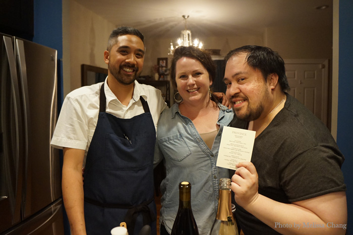 Chef Lee Opelinia, @AeroGenevieve and @TheDapperDiner.