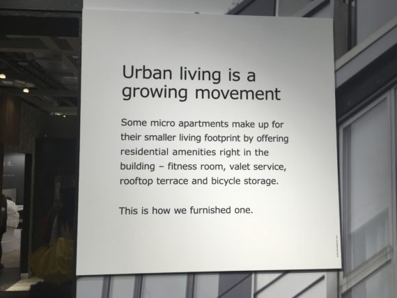 IKEA has several model apartments for all sizes