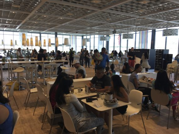 Hungry? IKEA has a huge dining area with very affordable options.