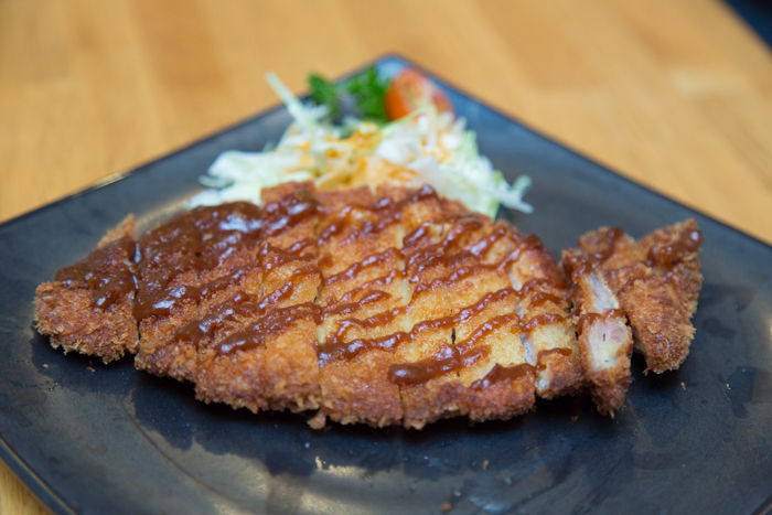 Dishes like the miso tonkatsu ($10.50) are perfect for sharing with a group. The juicy tonkatsu is drizzled with a mouthwatering sauce and served piping hot.