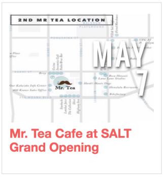 Mr. Tea Cafe at SALT Grand Opening