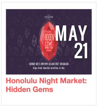 Honolulu Night + Market: Hidden Gems