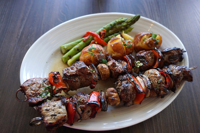 Espetada steak kebabs, $18.
