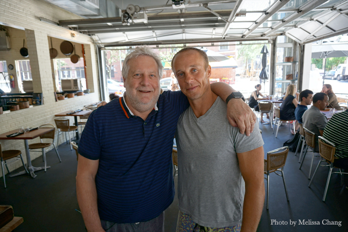 Chefs Jonathan Waxman and Mike Lofaro in Barbuto.