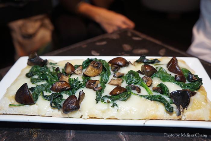 Tri-fungi flatbread, $13.