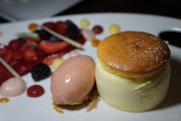 Chilled souffle cheesecake, $13.