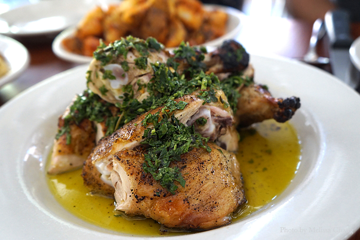 JW chicken and salsa verde, $23.