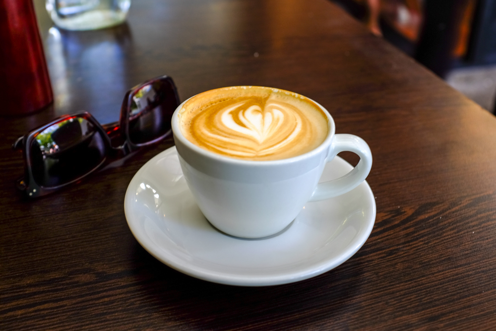 The ubiquitous flat white at Mary's, a medium-sized cafe off the beaten path of Ponsonby.
