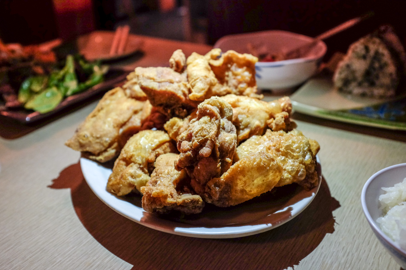 "Although I'm not sure what's ""new"" about New Hanagasa Inn, I'm well aware of the fact their fried chicken is habit forming and delicious hot out of the fryer."