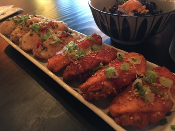 Inyo offers three types of chicken wings - Japanese Tebasaki, Korean Gochugaru and Thai Chile. We opted for the Korean and Thai. Big, meaty, mashiso and aroi mak. ($4.99 or $2.99 during Happy Hour)