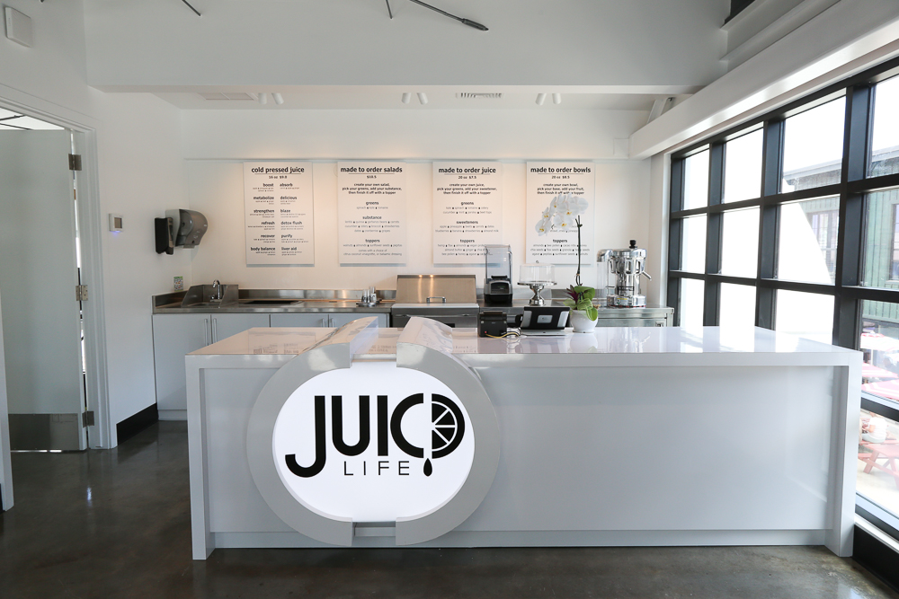 Juic'd Life is located on the second floor of the SALT complex at Our Kakaako kitty corner from Hank's Haute Dogs.