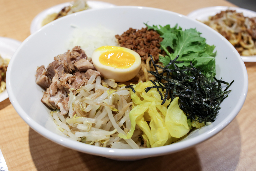 A new addition to the yataimura stalls, Onoya serves up variations of mazemen noodles.