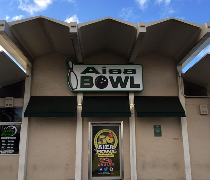 Aiea Bowl and The Alley are neighborhood staples.