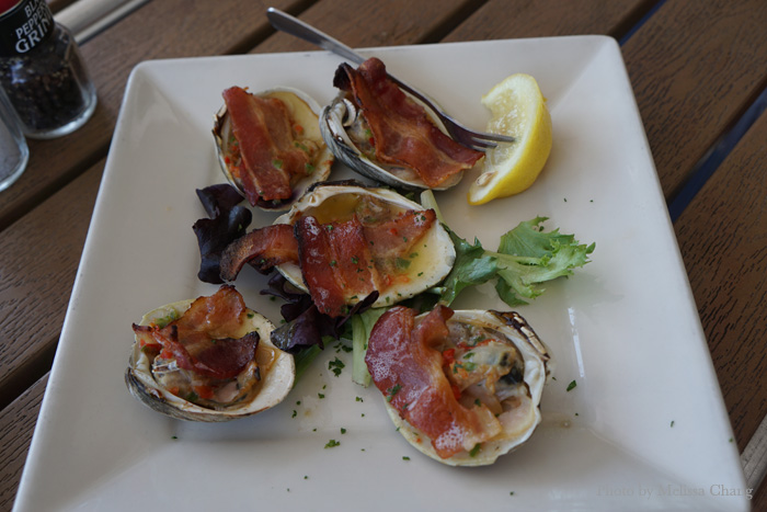 Clams casino, $12.