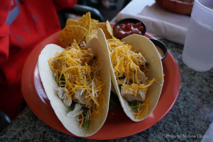 Fish tacos, $12.95.