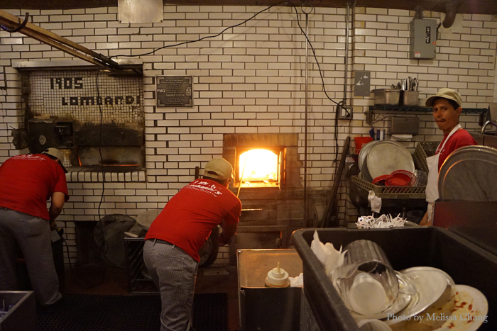 Lombardi's coal-burning oven, the only one in the city.