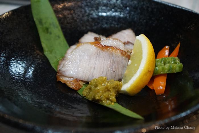 Black pork tontoro amiyaki, $8.