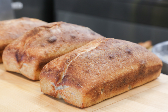 According to Nik, the bread is one of the components to their dishes that took the longest to perfect. Hundreds of iterations later, this sourdough that is mild in flavor and has excellent texture completes the brunch bowl.