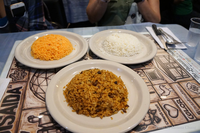 Choice of rice: Yellow, white or gandules (pigeon peas).