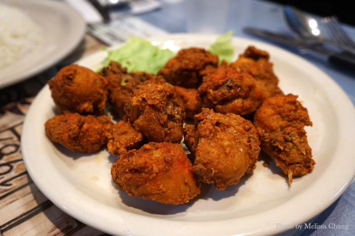 Chicken crackling, $7.95.