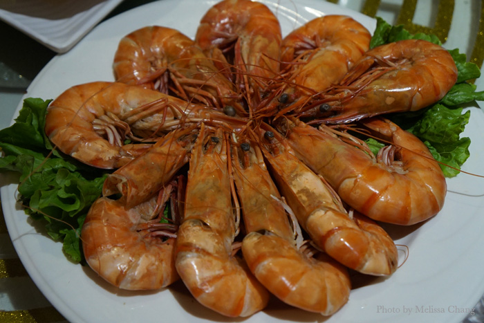 Health and lively herbal shrimp.