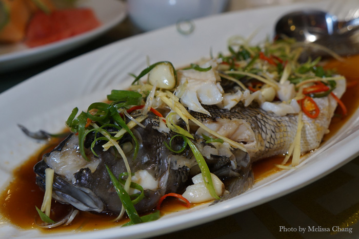 Swimming in Prosperity, a whole steamed fish.
