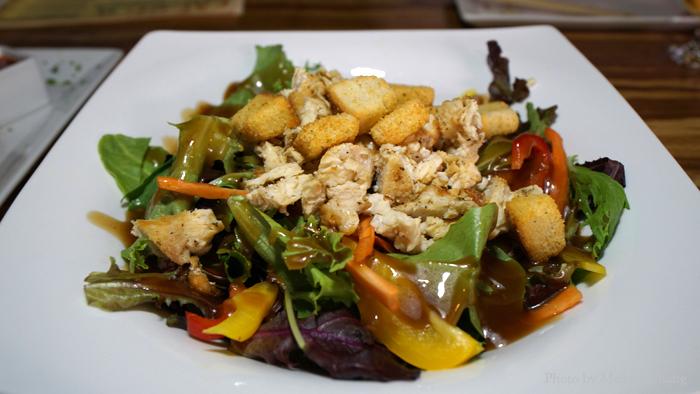 Asian salad, $9.