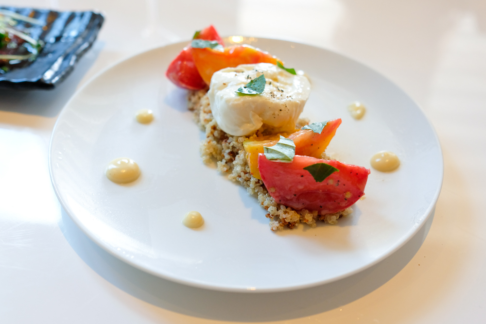 Heirloom tomatoes ($17) are some of my favorite things. as is burrata cheese, but Stripsteak takes it up a notch and stuffs it with smooth ricotta. These rest on a bed of crispy quinoa, making for a textural treat as you get crunchy bits mixing with creamy cheese and juicy tomatoes. I would order this dish again.