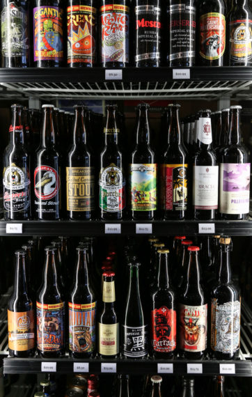 Freshness of their beer is very important to Golden and Ogino. They only stock their coolers with craft brews bottled within the last two or so weeks to ensure the best possible product to the customer.