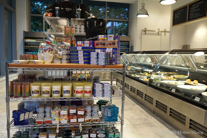 Hawaii products take center stage at the Waikiki store. The extensive deli case on the right offers gourmet salads and hot entrees.