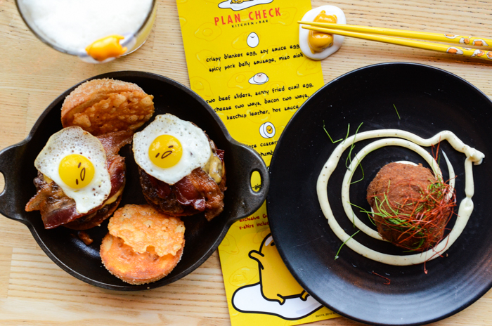 Plan Check's New American and fusion style food made the perfect base for creating a deliciously epic menu inspired by Gudetama. It was awesome and I'm not even egg-xaggerating!