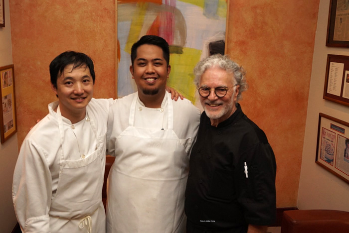 From left: Jonathan Mizukami, Jose Calpito, Chef Mavro.