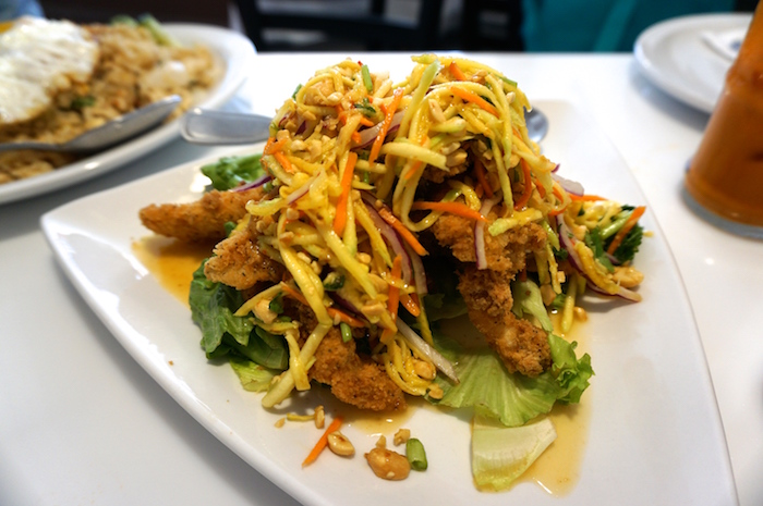 Crispy fish salad