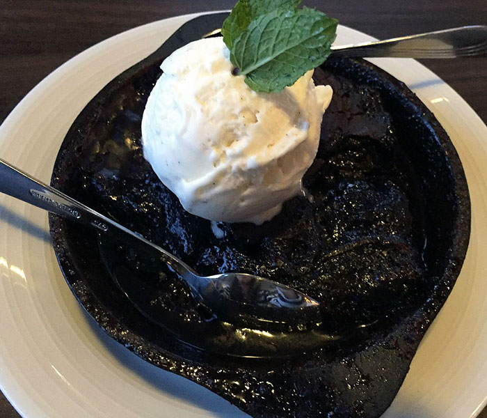 This ooey, gooey cobbler reminds me of devil's food cake straight outta the oven.