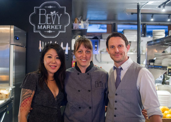 From left to right: Timo Lee, Chef Susan, Christian Self.