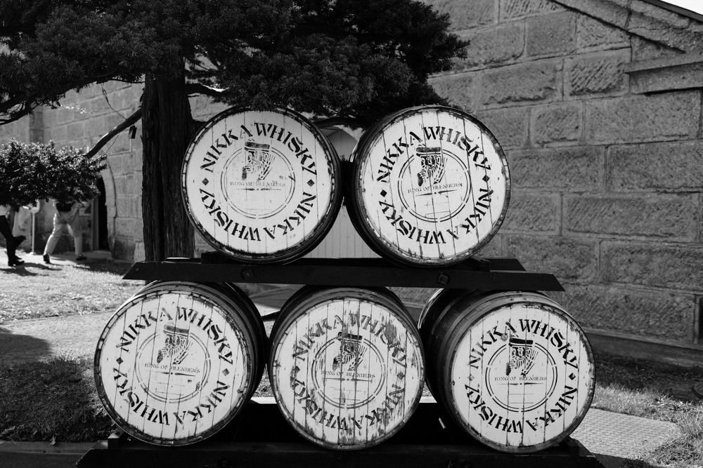 Hmm. Wonder if there's any whisky in these barrels.